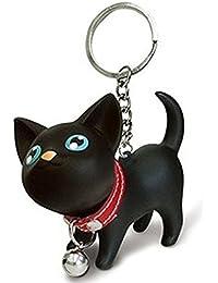 Westeng Porte-clés en forme de chat en plastique 1 pièce A Noir 9b1bf91b5af