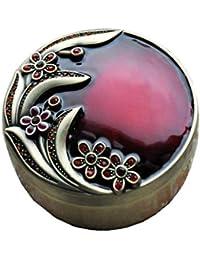 WUDAXIAN Joyero Organizador del Almacenamiento de la baratija pequeña de la joyería de la antigüedad del