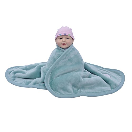 Erhalten Baby-fleece-decken (ataya Baby Decke SWADDLE WRAP Überwurf, weich warm Plüsch Flanell und Sherpa Fleece Sicherheit Decke, 2-Lagen erhalten bestickt Geschenk Decke (76× 100cm))