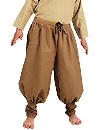 Medieval Children Trousers Linen Brown Knight Squire Nobleman Garment Boys Light Brown