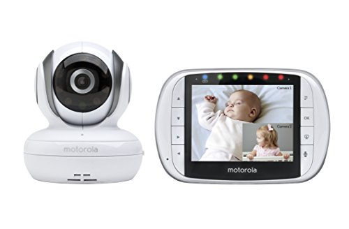 Motorola Remote Wireless Video Baby Monitor with 3.5-inch Colour LCD Screen,Camera Pan, Tilt, and Zoom (MBP36S)