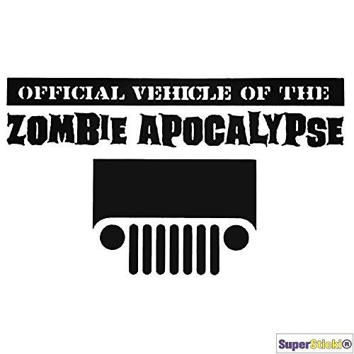 Zombie Apokalypse Autoaufkleber ca 15 cm Tuning Motorsport Aufkleber Decal von SUPERSTICKI® aus Hochleistungsfolie geplottet,freigestellt ohne Hintergrund für alle glatten Flächen UV und Waschanlagenfest Profi Qualität (Zombie-apokalypse-aufkleber)