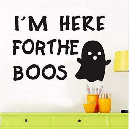 Zlxzlx Ich Bin Hier Für Halloween Party Modern Home Decor Wandaufkleber Für Kinder Kinderzimmer Schlafzimmer Wandkunst Wasserdichte Tapete 20 * 30 Cm