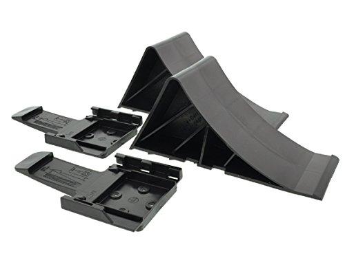 The Drive -14309-02- Satz Unterlegkeile (2 Stück) mit Halter schwarz 1600 kg - Bremskeile Anhängerkeile bis 1.6t