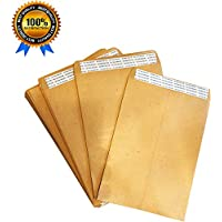 A5 Brown Envelopes Peal and Seal, Envelopes Self Seal, Large Envelope, Value 50 Pack 100 GSM, A5 Manilla Envelopes Personal Business Office by Virtue Retail