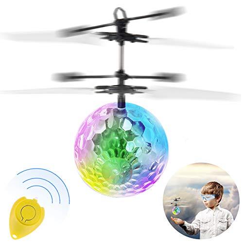 Anpro RC Fliegender Ball, Kinder Fliegendes Spielzeug mit drahtlose Fernbedienung und Brille, Flugzeug Hubchrauber mit bunter LED Leuchtung LED Blitzen Licht, MEHRWEG