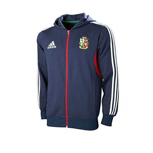 Britisch & Irisch Lions 2013 Durchgängige Reißverschluss Rugby Mit Kapuze Sweatshirt Marineblau - Marineblau, herren, 32/34, 32/34 (Kapuze Mit Rugby Baumwolle)