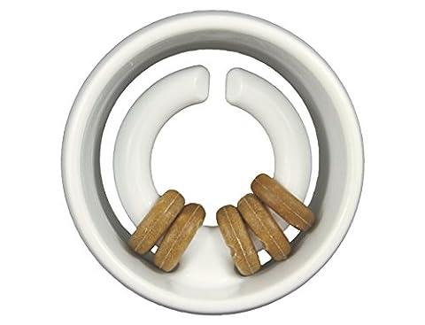 Starmark Jouet à Mâchonner en Forme de Globe en Nylon Durable pour Chien - Commestibile Dog Treats
