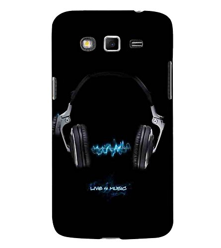 Head Phone, Black, Music Headphone, Great pattern, Printed Designer Back Case Cover for Samsung Galaxy Grand Neo Plus I9060I :: Samsung Galaxy Grand Neo+