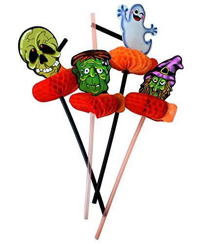 Halloween-Trinkhalme aus Kunststoff, Einweg, Saft, flexibel, Ghost Party, Bar Dekoration, Supplies Zombie Ghost Hexe Shantou, 16 Stück