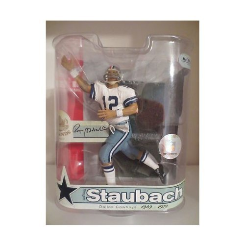 finest selection ddbae ae9ad Roger Staubach #12 Dallas Cowboys Red White Blue Helmet Variant Chase  Alternate McFarlane NFL Legends Series 3 Action Figure