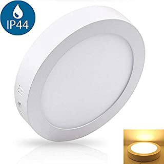 12W Led Bathroom Ceiling Light (Waterproof IP44), Aluminum 3000K Warm White. Surface Mounted Led Ceiling Light Fittings for Kitchen, Living Room, Hallway. Flush Ceiling Lighting (AC 110-265V).