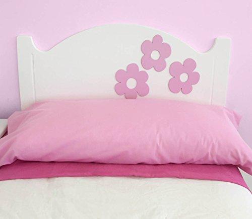 Kopfteil für Kinderbetten: Modell ANASTASIA BLUMEN (Matratzenbreite 90cm oder 105cm) (Matratze: 90cm)