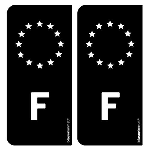 2-autocollants-plaque-immat-auto-f-france-identifiant-europeen-noir-blanc