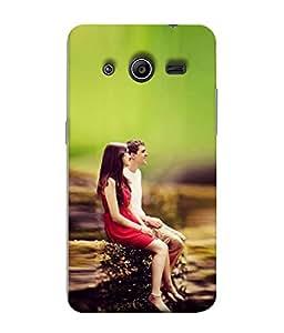 Snapdilla Designer Back Case Cover for Samsung Galaxy Core 2 G355H :: Samsung Galaxy Core Ii :: Samsung Galaxy Core 2 Dual ( Women Man Light Nature Love Contrast Wallpaper)