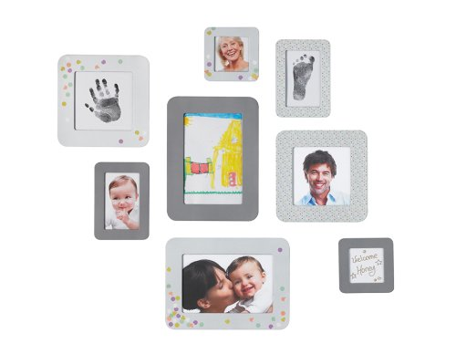 Baby Art 34120115 - Sticker Frames - 8 Bilderrahmen zum Kleben, für Fotos, Zeichnungen und Hand- oder Fußabdruck des Kindes
