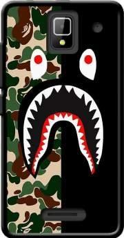 MOBILINNOV Orange Rise 33 Shark Bape Camo Military Bicolor Silikon Hülle Handyhülle Schutzhülle - Zubehor Etui Smartphone Orange Rise 33 Accessoires Rise Camo