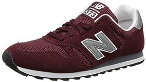 calzado: New Balance ML373, Zapatillas para Hombre, Rojo (Burgundy/Silver), 44.5 EU