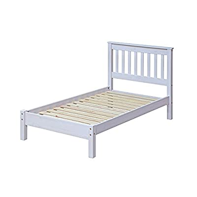Home Source - Mexican Style Classic White Wood Pine 3 Ft Single Bed Frame Bedstead - low-cost UK light shop.