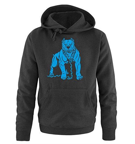 Comedy Shirts - PITBULL - Uomo Hoodie cappuccio sweater - taglia S-XXL different colors nero / blu