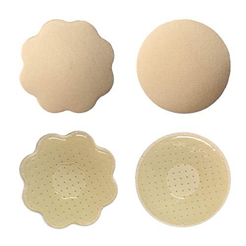 BDSMAGE Damen Nipple Cover Silikon-Gel Brustaufkleber Nippelabdeckung Büstenhalter self Adhesive Nippelpads BH [Wiederverwendbar]