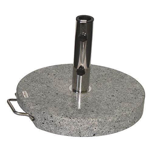 Profiline 40 kg Granit Schirmständer mit Rollen, rund, Edelstahl, 451070