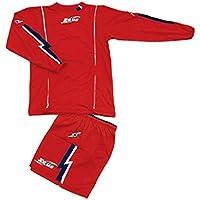 51991a215c31f7 Kit Zeus Titanio Rosso-Blu-Bianco Completino Completo Calcio Uomo Donna  Calcetto Muta Torneo Scuola Sport (XL)
