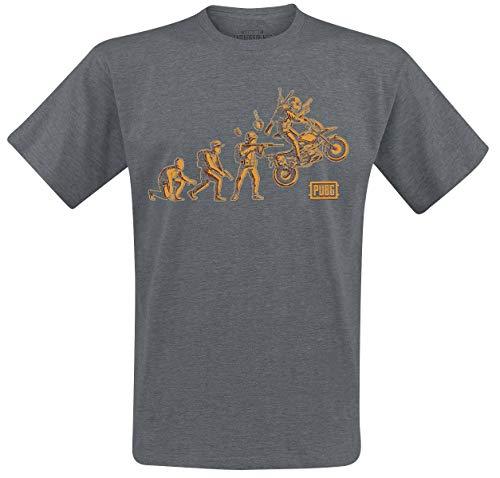 Playerunknown's Battlegrounds PUBG - Evolution Camiseta Gris/Melé