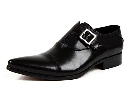Scarpe Uomo in Pelle Scarpe da uomo in pelle Business Formal Wear Indossate scarpe singole traspiranti ( Colore : Red-brown , dimensioni : EU45/UK9 ) Nero