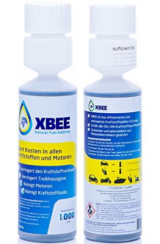 XBEE Universal Kraftstoff-Systemreiniger ohne Chemie - Die Alternative zu Biozid Kraftstoffadditiv gegen Dieselpest I Additiv Motor Reiniger Kraftstoffzusatz I Motor-System-Reiniger 250 ml