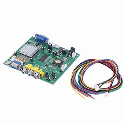 Toper RGB CGA EGA YUV zu VGA HD Video Inverter Konverter Board Platte Transverter Moudle HD9800
