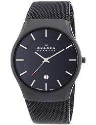 Skagen Herren-Armbanduhr Analog Quarz Edelstahl beschichtet 956XLTBB