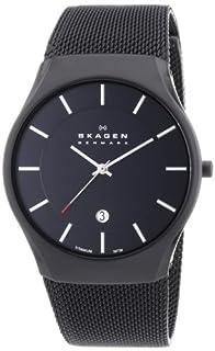 Skagen White Label Men's Quartz Watch with Black Dial Analogue Display and Black Titanium Strap 956XLTBB (B0090ZL21W) | Amazon price tracker / tracking, Amazon price history charts, Amazon price watches, Amazon price drop alerts