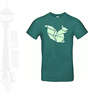 Herren T-Shirt 'Origami Eichhörnchen' Baumwolle