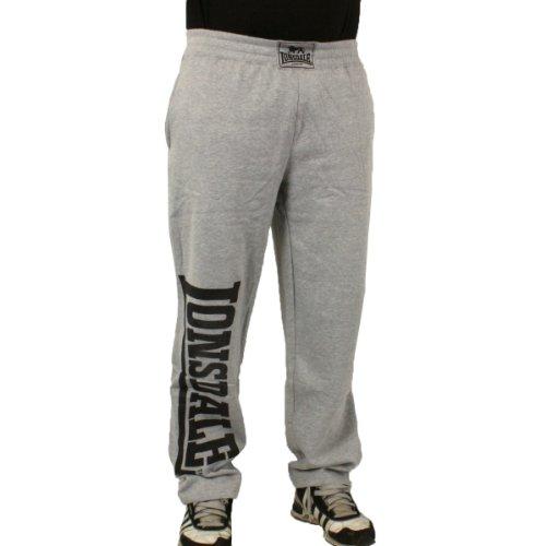 Lonsdale London pantaloni da uomo Rafty grey marl - regolare Grigio Grey Marl