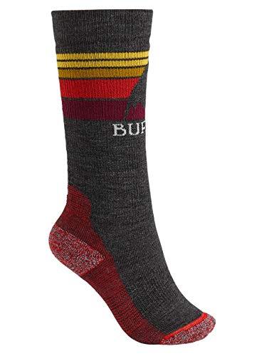 Burton Kinder Emblem Midweight Snowboardsocken, True Black, M/L - Burton Socken Schwarz
