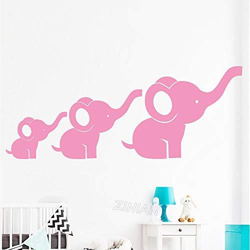 Mbambm Conjunto De 3 Familia Del Elefante Adhesivos De Pared Niños Decoración...