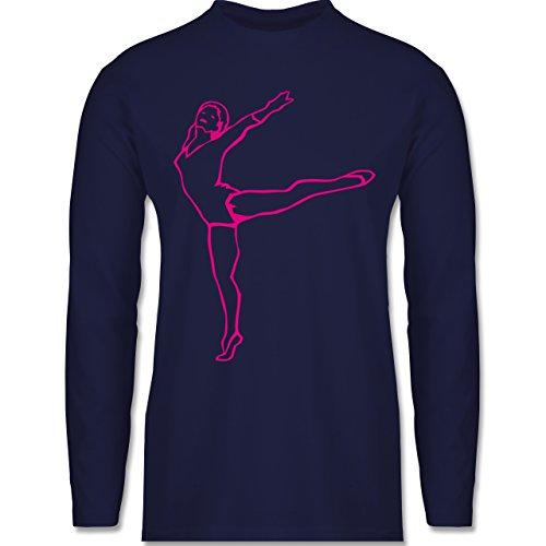 Wellness, Yoga & Co. - Rhythmische Sportgymnastik - Longsleeve / langärmeliges T-Shirt für Herren Navy Blau