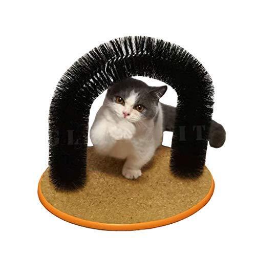 Glanzzeit Katzen Enthaarungsbogen inkl. Katzenminze Mietze Massagebogen Katzenbürste Katzenbogen für Selber Fellpflege