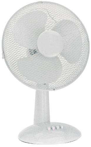 Tisch-Ventilator schwenkbar 45 Watt kräftig leise weiß 3 Geschwindigkeitsstufen Kühler Raum-Lüfter Luft-Erfrischer Lüftung
