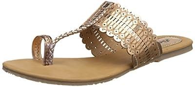 BATA Women's Metallic Tr Slippers