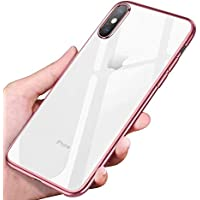 Coque iPhone Xs Max , phixilin Souple Coque iPhone Xs Max Crystal Silicone Housse iPhone Xs Max Coque De Protection Transparent Cover Anti-Scratch Ultra -Thin TPU Bumper Case Pour iPhone Xs Max Etui - Rose