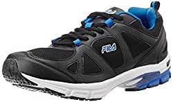 Fila Mens Support Black and Royal Blue Running Shoes -8 UK/India (42 EU)