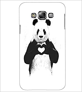 PrintDhaba Bear with Heart D-1469 Back Case Cover for SAMSUNG GALAXY A8 (Multi-Coloured)