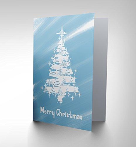 CHRISTMAS XMAS FROSTY WHITE TREE NEW ART GREETINGS GIFT CARD CP1932 (White Xmas Tree)