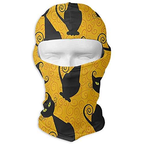 Wfispiy Schwarze Katze für Halloween Magic Seamless Bandana Outdoor Kopfbedeckung Schal Multi Use