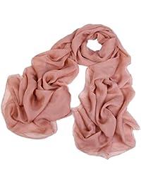 Pure Camel Colour Scarf Ladies Silk Shawl Scarves, 180 * 110 cm
