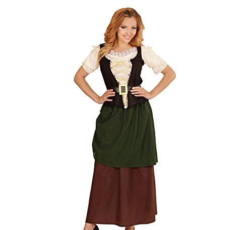 Widmann 73404 - Erwachsenenkostüm Mittelalter, Shirt, Korsett, Rock und Gürtel, grün, Größe (Kostüme Fraulein Deutsch)