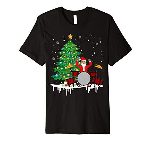 Weihnachtsmann, der Trommel-lustiges T-Shirt -
