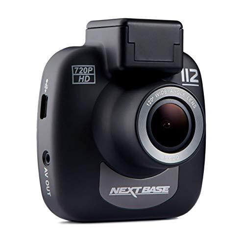 Nextbase 112 - 720p HD In-Car Dash Camera DVR - 120° Viewing Angle - Night Vision - Black Logo